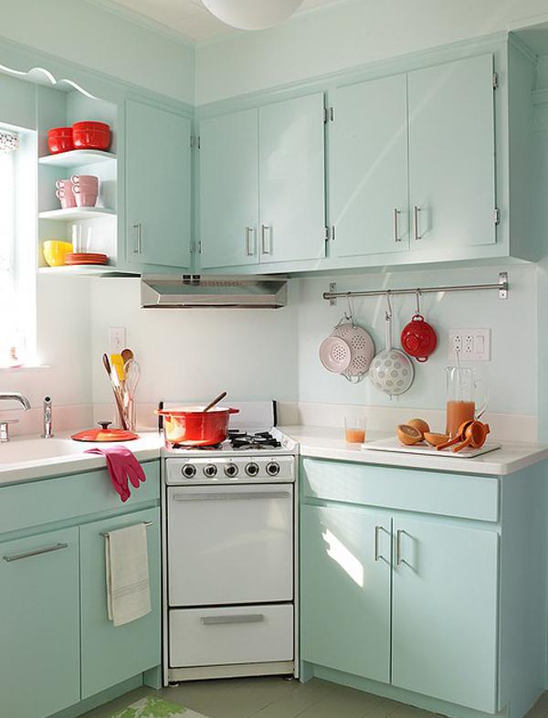 pastel retro kitchen designs