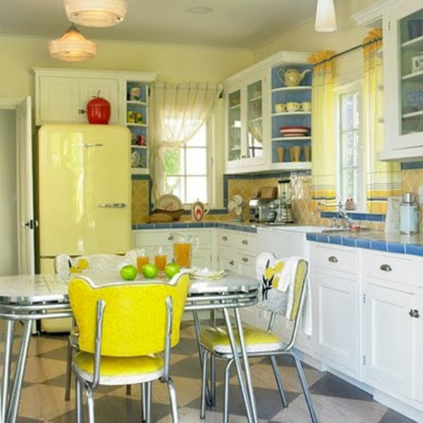 Purple And Pink Kitchen Colors Adding Retro Vibe To Modern: 25 Inspiring Retro Kitchen Designs