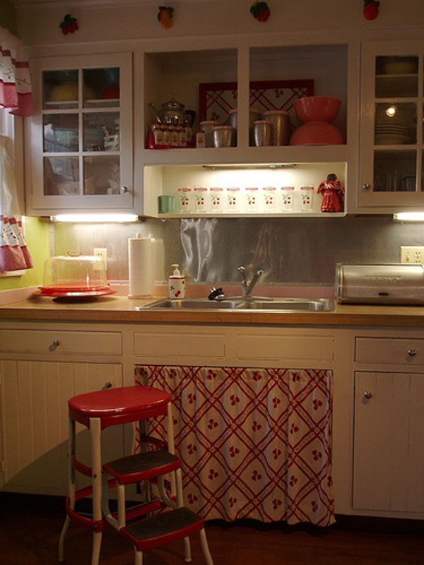 vintage kitchen ideas small retro kitchen cabinet 15367