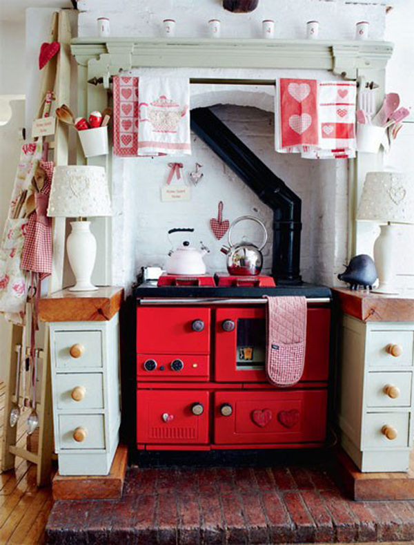 Small retro kitchen decoration - Chic country house architecture with adorable interior design ...