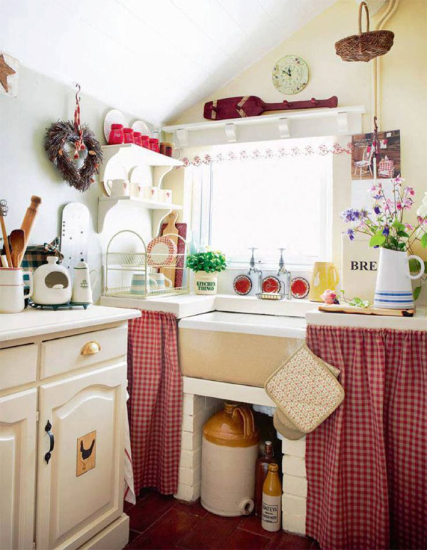 Small retro kitchen storage space for Small retro kitchen