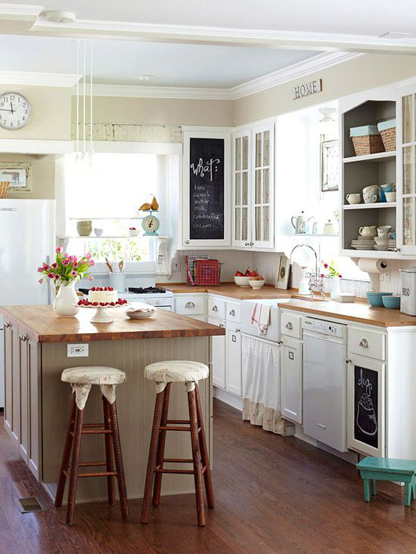 25 inspiring retro kitchen designs house design and decor for Kitchen design for small house