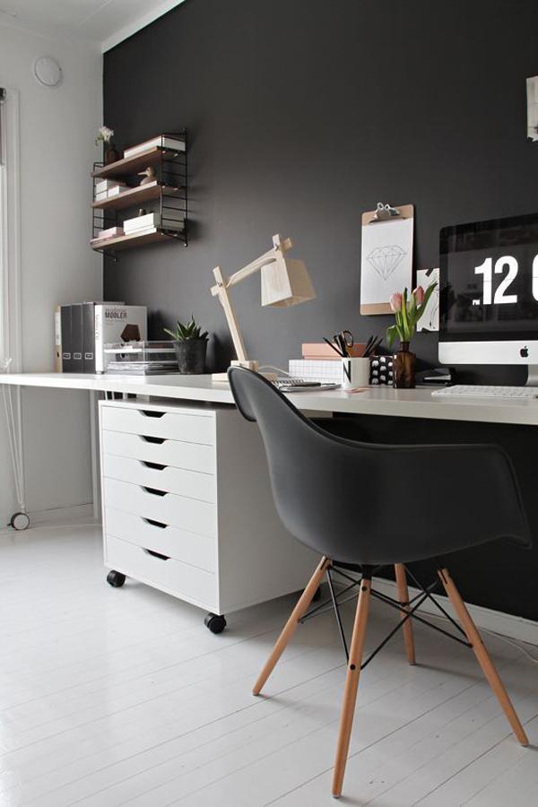 Teen black home office ideas for Bureau adolescent