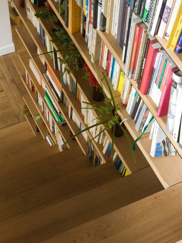 Trendy Staircase With Library Ideas House Design And Decor