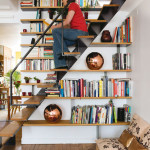 Trendy Staircase with Library Ideas