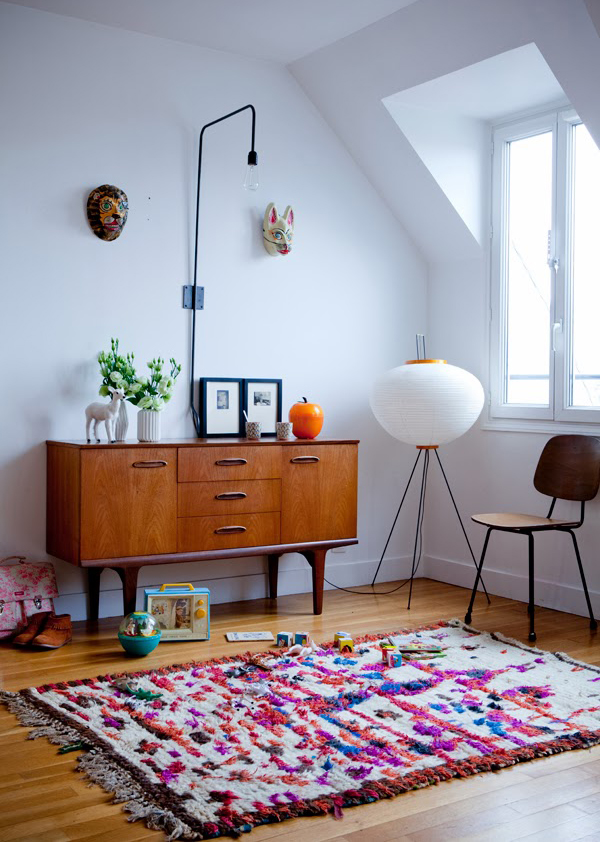 Unique rug design - Decoration scandinave vintage ...