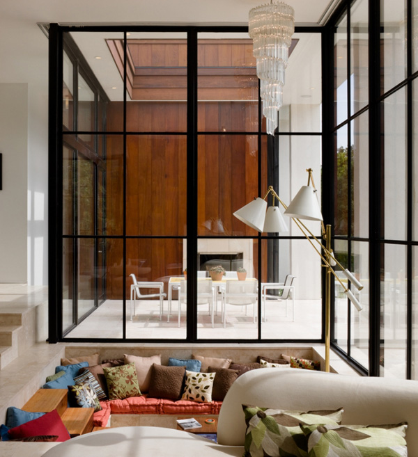 Green Living Room Ideas In East Hampton New York: Luxurious Waterfront House By Michael Haverland Architect