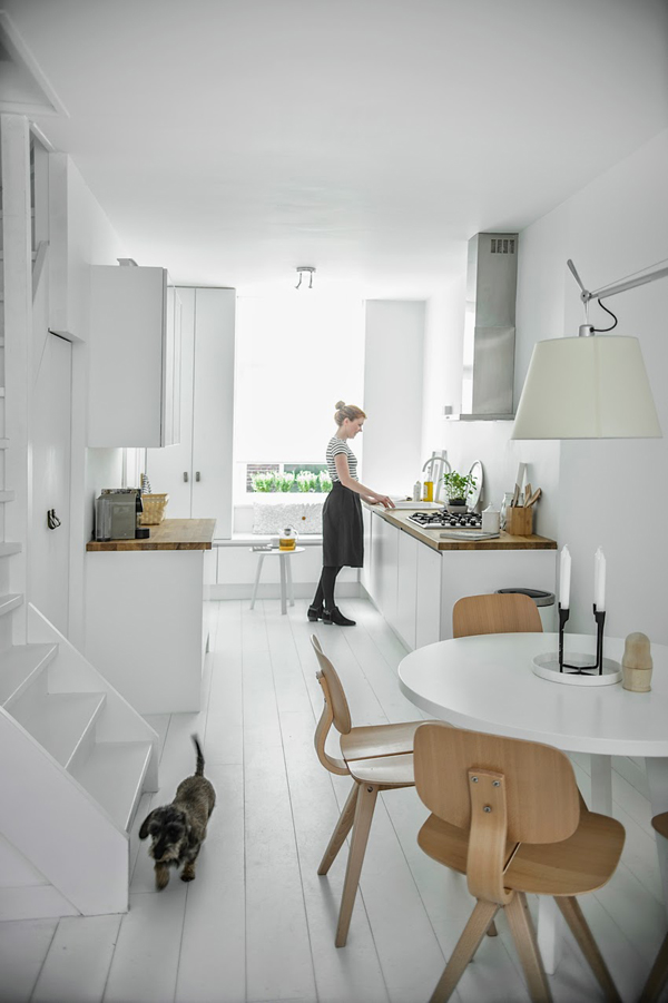 White and Grey Apartment Design In Delft