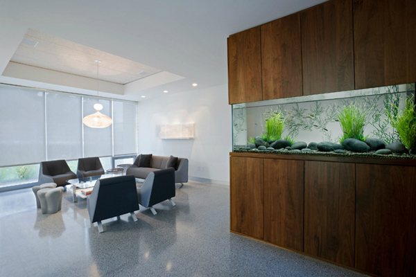 20 modern aquarium design for every interior house for Aquarium wood decoration
