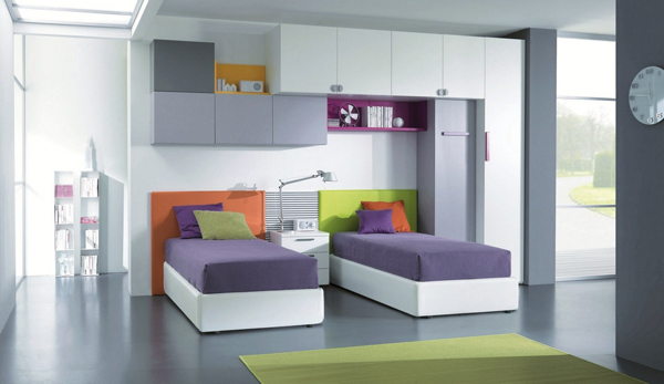 Modern Kids Double Bed Ideas