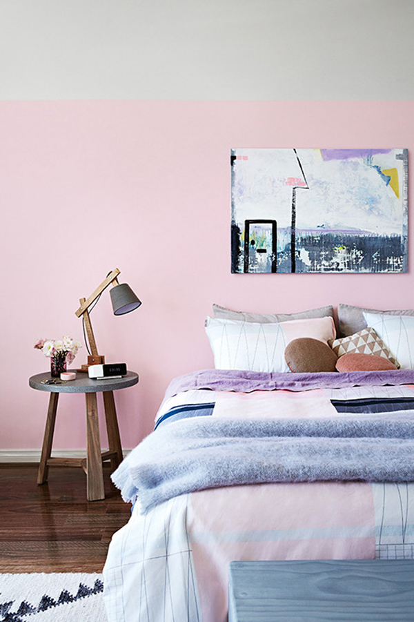 Pink bedroom decor for Kleuren combineren interieur
