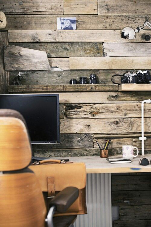 Rustic Home Office Walls