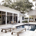 Simple Poolside with Open Space Ideas