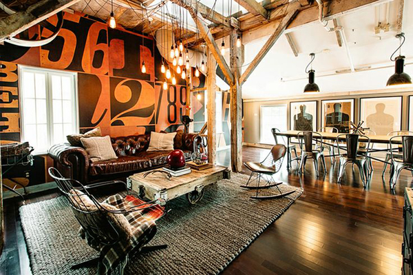 industrial living room decor. awesome industrial living room decoration 20 Inspirational Industrial Living Room Designs  House Design And