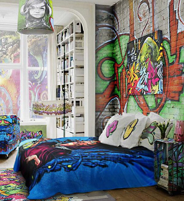 Graffiti Bedding And Curtains Girl Bedding