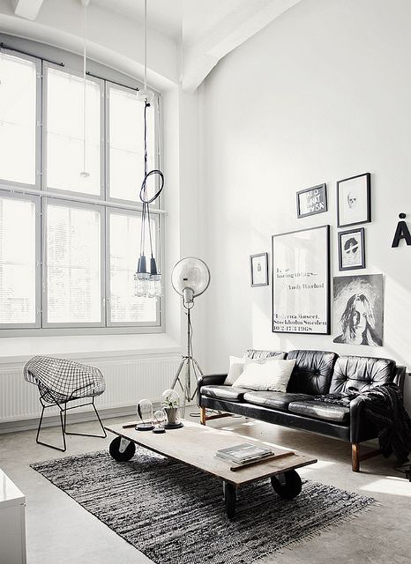 appealing industrial living room design | 20 Inspirational Industrial Living Room Designs | House ...