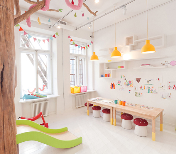 Biblioteka Restaurant With Kids Playrooms In St Petersburg House Design And Decor