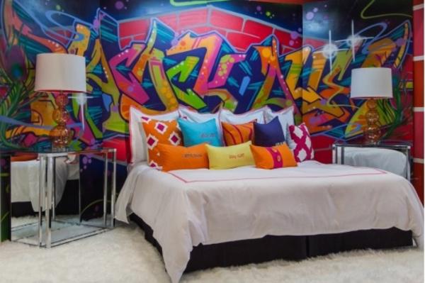 25 Cool Graffiti Wall Interior Ideas House Design And Decor - Bedroom Graffiti