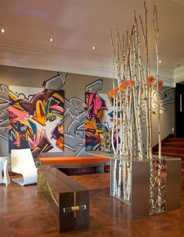 House Design And Decor25 Cool Graffiti Wall Interior Ideas   House Design And Decor. Graffiti Bedroom Decorating Ideas. Home Design Ideas