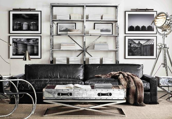 modern industrial living room decor. Black Bedroom Furniture Sets. Home Design Ideas