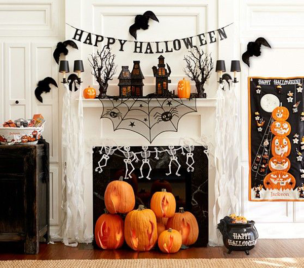 20 Elegant Halloween Home Decor Ideas: 20 Beautiful Halloween Mantel Ideas