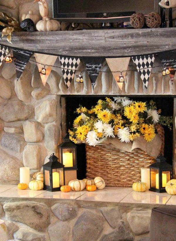 20 Beautiful Halloween Mantel Ideas