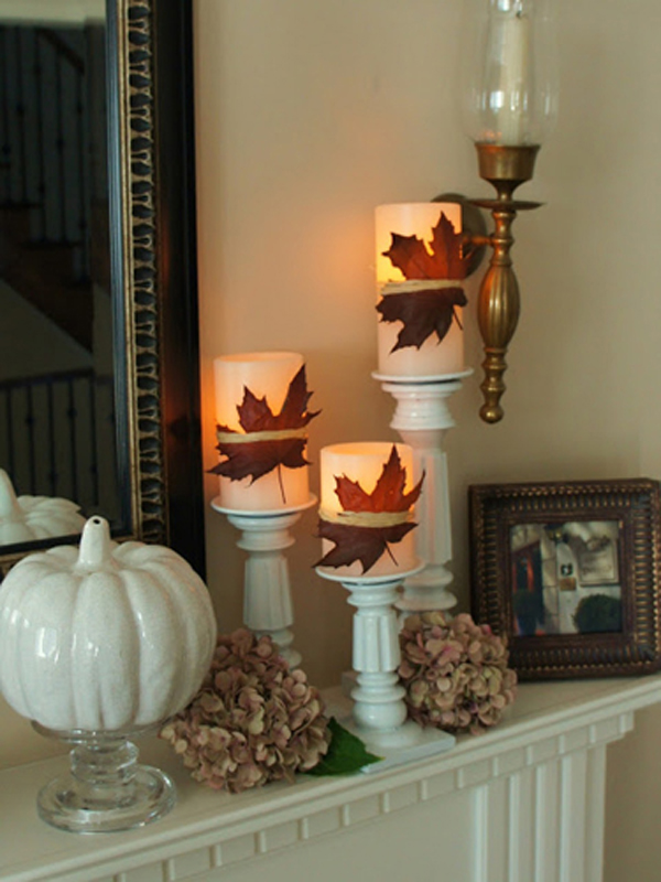 Halloween Mantel Candle Lights