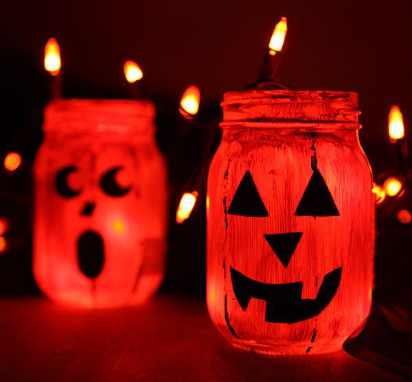 10 Coolest Glowing Jack-O-Lantern Jars