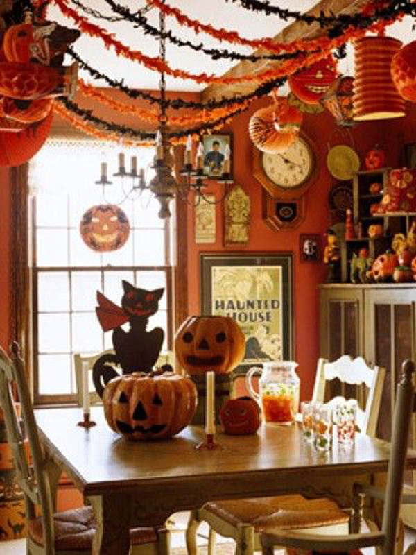 20 vintage halloween decorations house design and decor. Black Bedroom Furniture Sets. Home Design Ideas