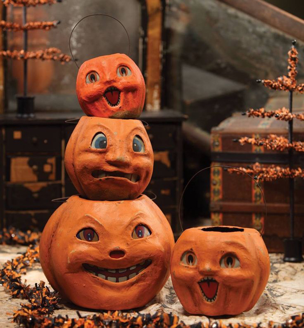 Vintage halloween pumpkin ideas for Antique halloween decoration
