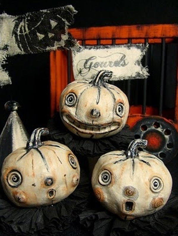 vintage halloween pumpkins vintage halloween decoration ideas - Halloween Vintage Decorations