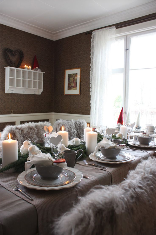 Grey Christmas Table Decorations