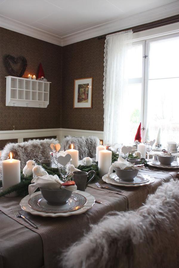 Grey Christmas Table Decorations