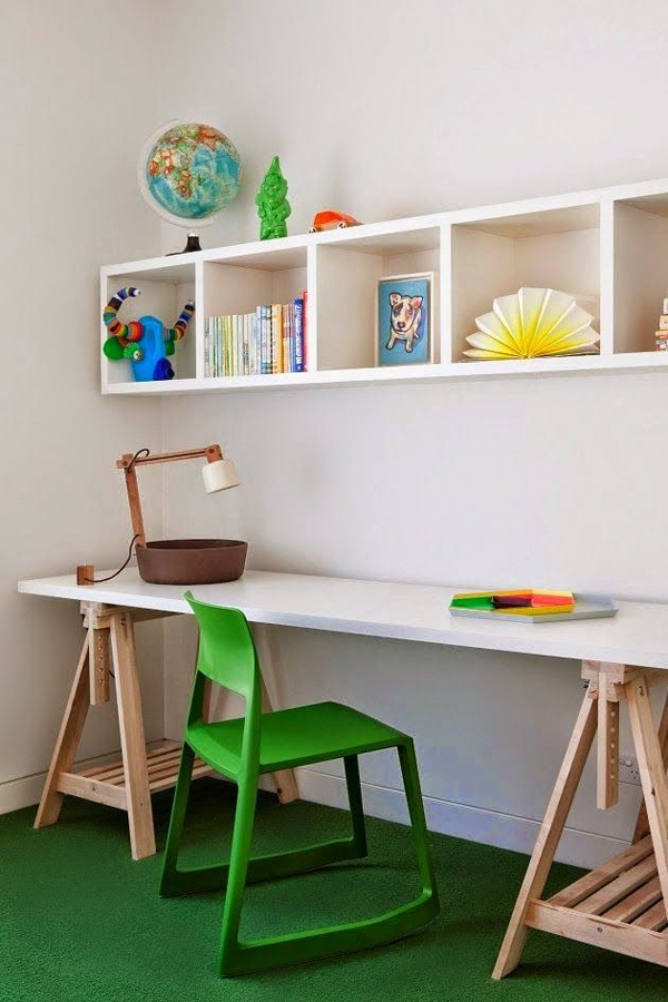 Decent Study Rooms: 15 Functional Kids Desk Ideas