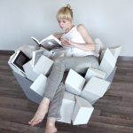 Playful Manet Armchairs by Marta Szymkowiak