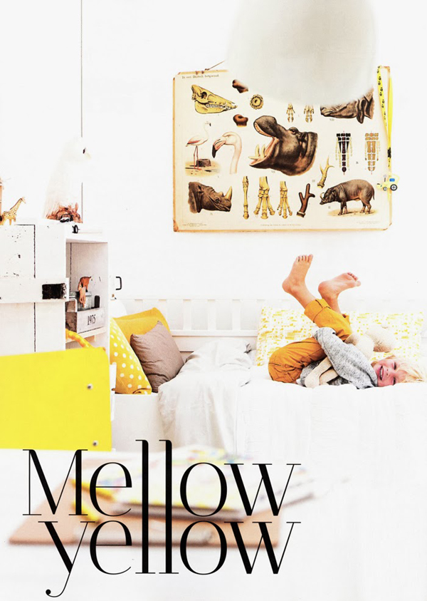 Inspiring Mellow and Yellow Kids Room