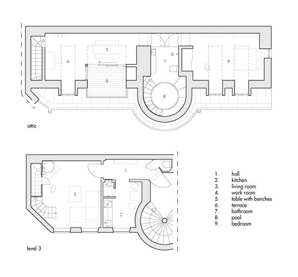futuristic apartment floor plan