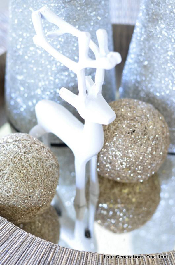 Gold And Silver Christmas Ornament