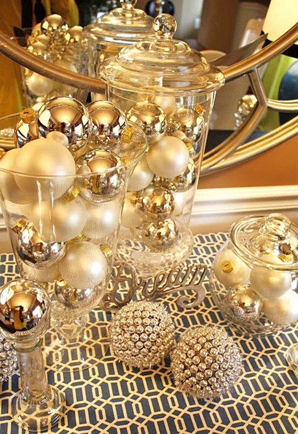 Elegant gold christmas ideas house design and decor