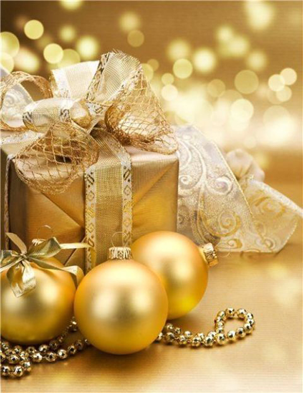 Gold christmas gift for Christmas decoration stuff