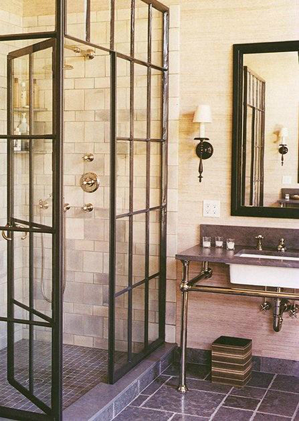 15 industrial vintage bathrooms house design and decor. Black Bedroom Furniture Sets. Home Design Ideas