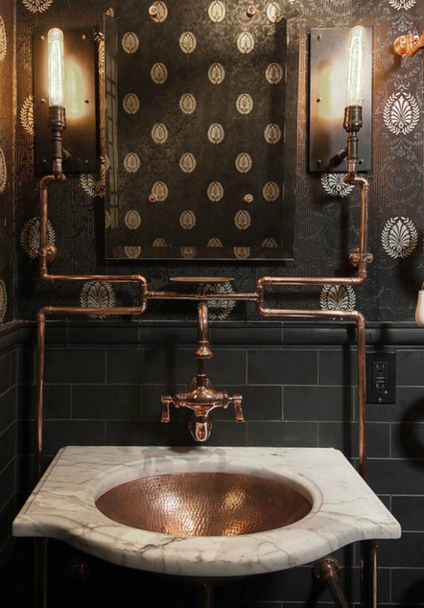 15 industrial vintage bathrooms house design and decor for Bathroom ideas industrial
