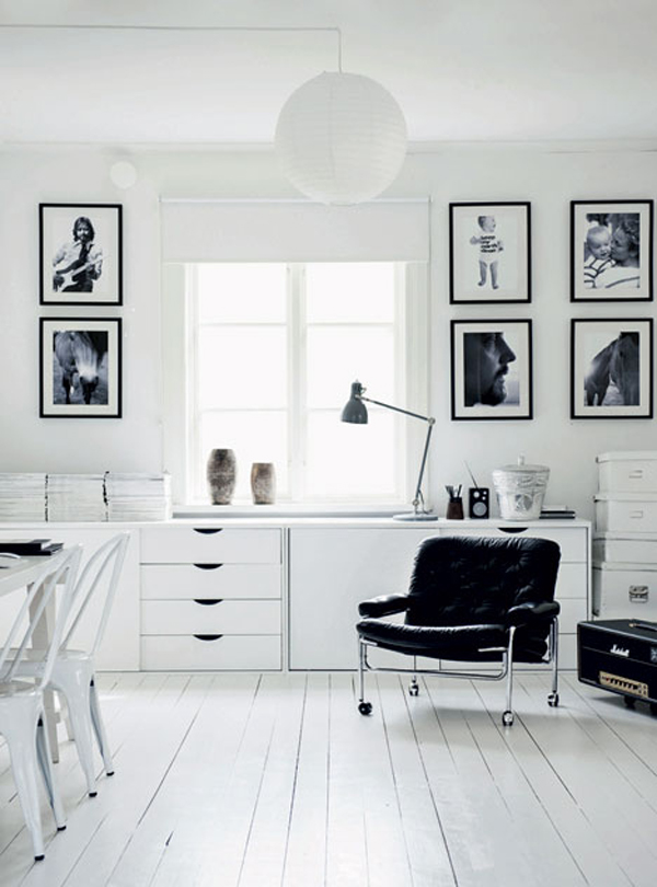 Black and White Old Farmhouse in Swedish