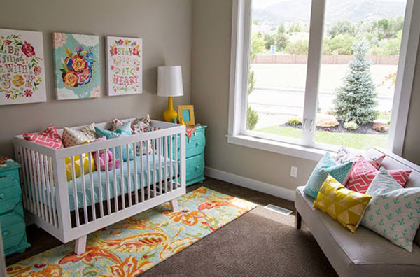 Purple Nursery with Pastel Ornaments
