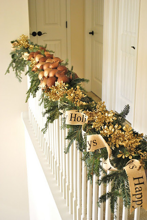 Staircase Christmas Garland Decorations