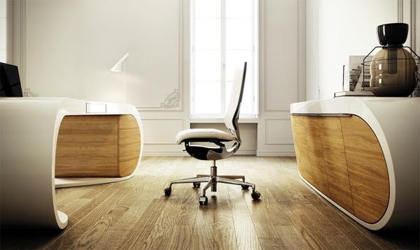 black and white google desk from danny venlet house design and decor. Black Bedroom Furniture Sets. Home Design Ideas