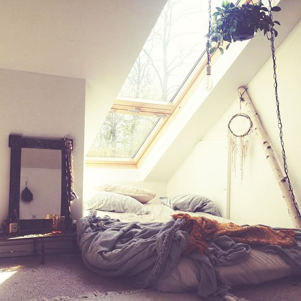 Loft bohemian bedrooms for Bedroom ideas boho