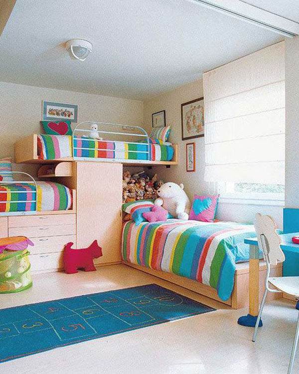 Colorful Kids Room Design: 15 Colorful Kids Bunk Bed Ideas