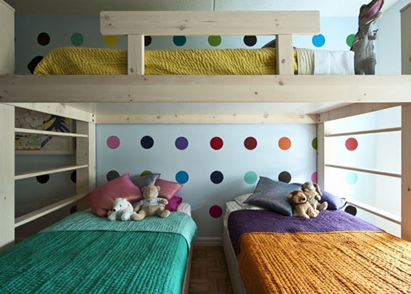Bunk Beds For Three Kids 15 Colorful Kids Bunk Bed Ideas  House Design And Decor