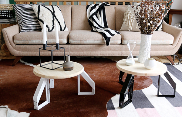 Diy Round Coffee Tables With Scandinavian Inspired House